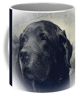 Vintage Black Lab Coffee Mug by Eleanor Abramson