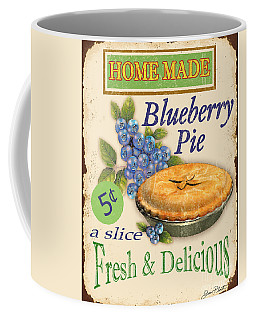 Vintage Blueberry Pie Sign Coffee Mug by Jean Plout