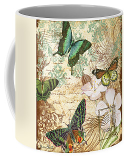 Vintage Butterfly Kisses  Coffee Mug by Jean Plout