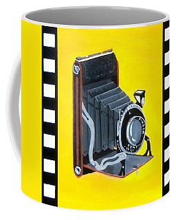 Vintage Camera Coffee Mug by Karyn Robinson