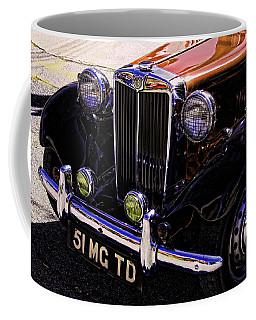 Vintage Car Art 51 Mg Td Copper Coffee Mug