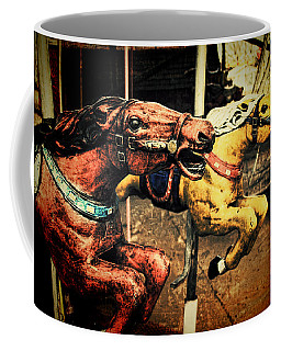 Vintage Carousel Horses 002 Coffee Mug by Tony Grider