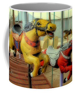Vintage Carousel Horses 014 - Large Format - No Transfer Border Coffee Mug