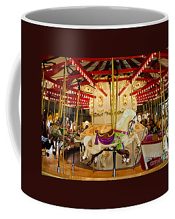 Coffee Mug featuring the photograph Vintage Carousel by Maria Janicki
