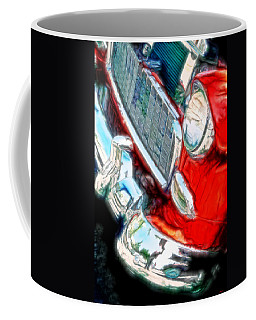 Vintage Chevy Art Alley Cat 3 Red Coffee Mug