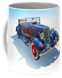 Coffee Mug featuring the photograph Vintage Convertible by Gianfranco Weiss