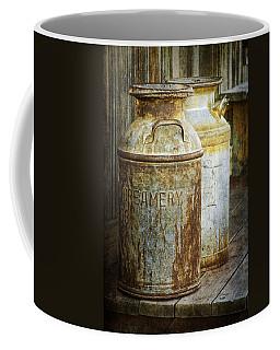 Vintage Creamery Cans In 1880 Town In South Dakota Coffee Mug