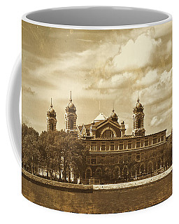 Coffee Mug featuring the photograph Vintage Ellis Island by Eleanor Abramson