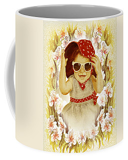 Vintage Fashion Girl Coffee Mug by Irina Sztukowski
