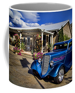 Vintage Ford Coupe At Oliver Twist Winery Coffee Mug
