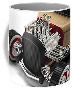 Coffee Mug featuring the photograph Vintage Hot Rod Engine by Gianfranco Weiss