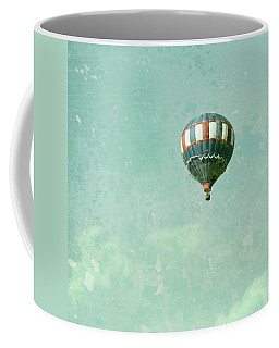 Coffee Mug featuring the photograph Vintage Inspired Hot Air Balloon In Red White And Blue by Brooke T Ryan