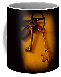 Vintage Keys Deep Antiqued Vignette Coffee Mug