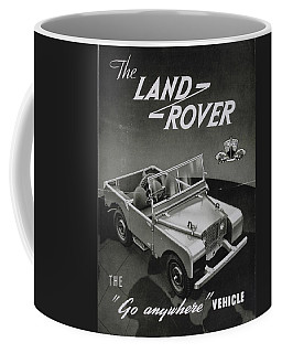 Vintage Land Rover Advert Coffee Mug