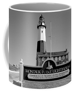 Vintage Looking Montauk Lighthouse Coffee Mug by John Telfer