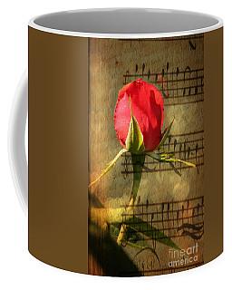 Coffee Mug featuring the photograph Vintage Love Story Symphony by Judy Palkimas