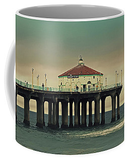 Vintage Manhattan Beach Pier Coffee Mug