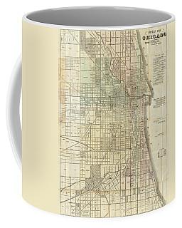 Vintage Map Of Chicago - 1857 Coffee Mug