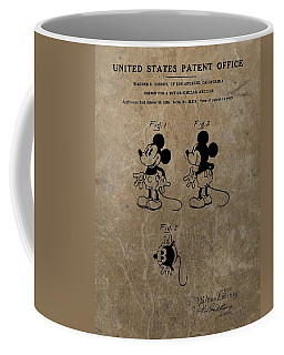 Vintage Mickey Mouse Patent Coffee Mug
