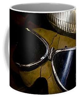 Coffee Mug featuring the photograph Vintage Motorcycle Goggles by Wilma  Birdwell
