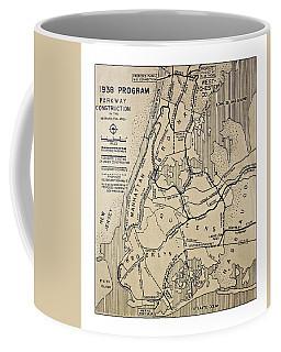 Vintage Newspaper Map Coffee Mug
