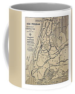 Vintage Newspaper Map Coffee Mug