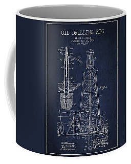Vintage Oil Drilling Rig Patent From 1911 Coffee Mug
