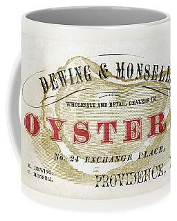 Vintage Oyster Dealers Trade Card Coffee Mug