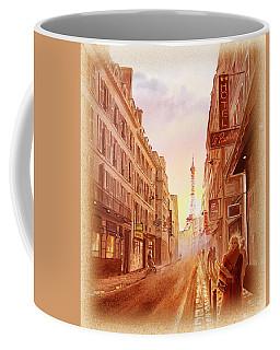 Vintage Paris Street Eiffel Tower View Coffee Mug by Irina Sztukowski