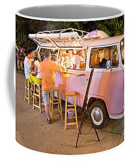 Vintage Pink Volkswagen Bus Coffee Mug by Luciano Mortula