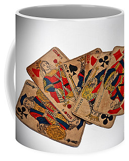 Vintage Playing Cards Art Prints Coffee Mug by Valerie Garner