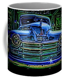 Vintage Plymouth Navy Metalic Art Coffee Mug