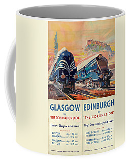Vintage Train Travel - Glasgow And Edinburgh Coffee Mug