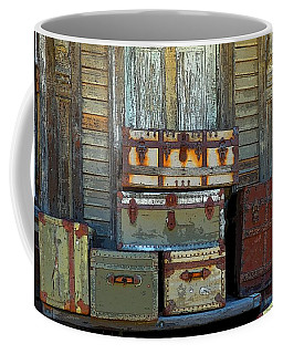 Vintage Trunks   Sold Coffee Mug by Marcia Lee Jones