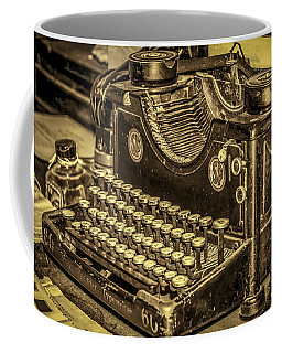Coffee Mug featuring the photograph Vintage Typewriter by Susan Leonard