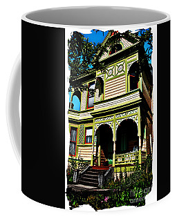 Vintage Victorian Home Watercolor Style Art Prints Coffee Mug by Valerie Garner