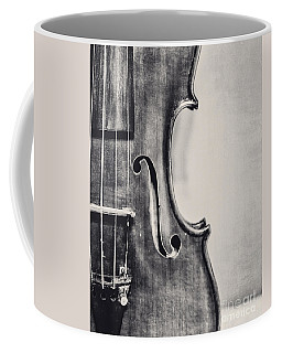 Vintage Violin Portrait In Black And White Coffee Mug
