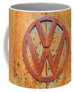 Vintage Volkswagen Bus Logo Coffee Mug by Catherine Sherman