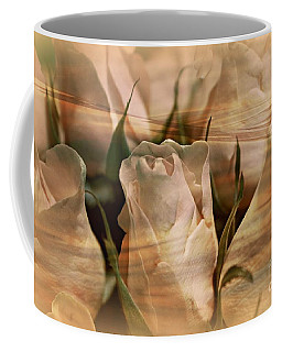 Coffee Mug featuring the photograph Vintage Water Rose Abstract by Judy Palkimas