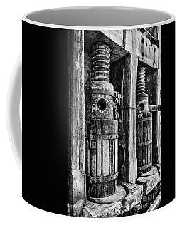 Vintage Wine Press Bw Coffee Mug