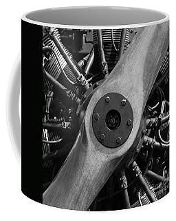 Vintage Wood Propeller - 7d15828 - Square - Black And White Coffee Mug