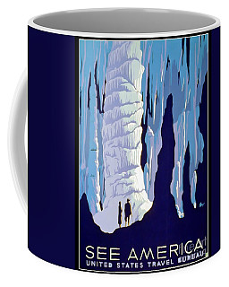 Vintage Wpa Poster See America Coffee Mug