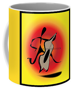 Coffee Mug featuring the digital art Viola by Iris Gelbart
