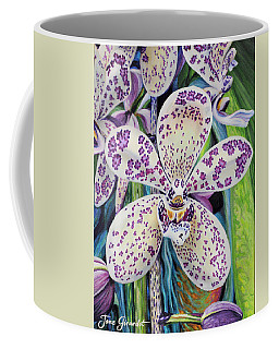 Violet Dotted Orchid Coffee Mug