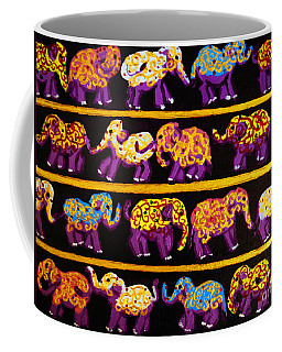 Violet Elephants Coffee Mug