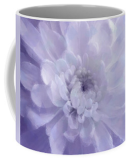 Violet Mum Luminous Painted Blossom Coffee Mug