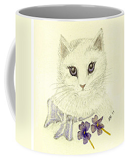 Coffee Mug featuring the drawing Violet by Stephanie Grant