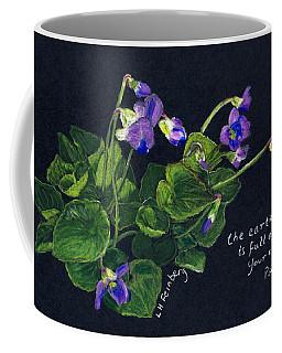 Violets And Psalm 104 Coffee Mug