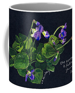 Violets And Psalm 104 Coffee Mug