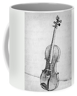 Violin In Black And White Coffee Mug